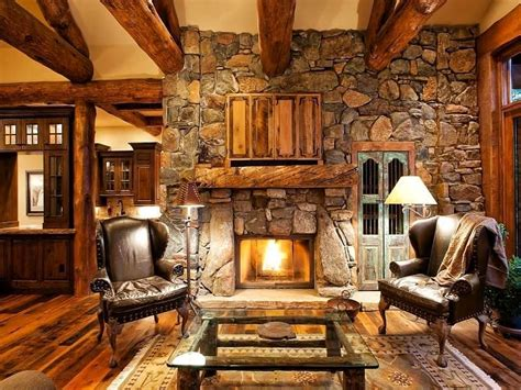 Distressed Western Looking Home Offices Rugs - living room designs with fireplaces