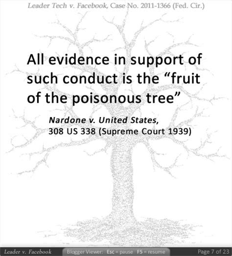 opinions on fruit of the poisonous tree - Fruit Of The Poisonous Tree