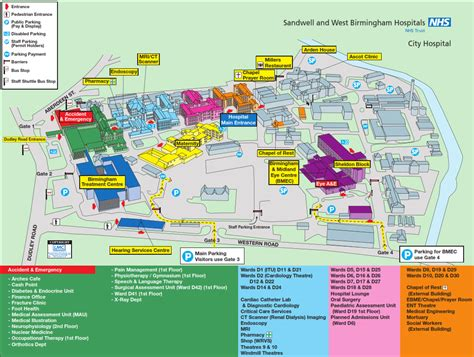Qmc Floor Plan by Birmingham City Hospital Sandwell And West Birmingham