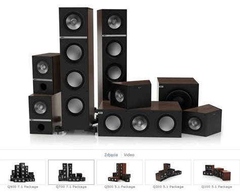 Kef Q100 Paket 7 1 2 Dolby Atmos Home Theater Speaker Sln Jbl Q B W Fo kef q700 q200c q100 q800ds kolumny do kina domowego w s k d pl