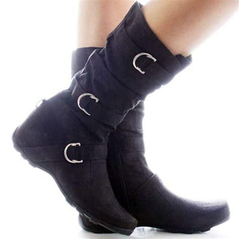 dwdshoes36166 black suede slouch scrunch fashion comfort