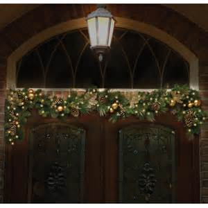 outdoor lighted garland garland 9x12 dia pre lit decorated indoor