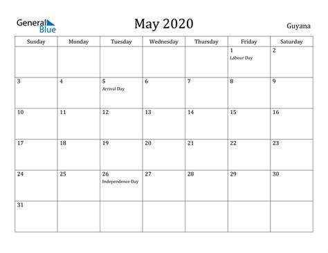 calendar guyana