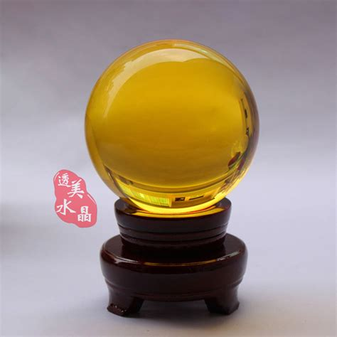 feng shui yellow aliexpress com buy crystal ball decoration base feng