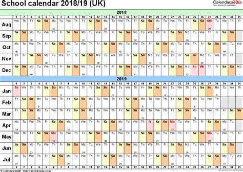 2018 academic calendar template school calendars 2018 2019 as free printable word templates
