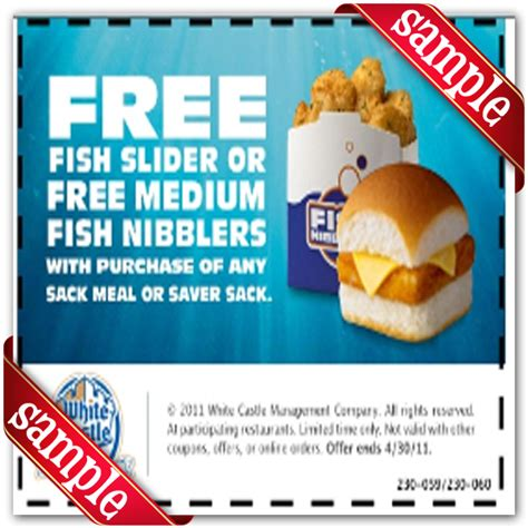 white castle printable coupons 2018