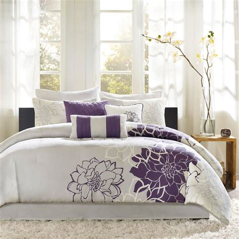 purple yellow and grey bedroom gray and purple bedding product choices homesfeed