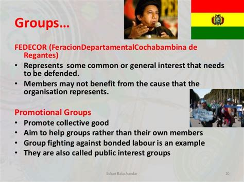 exles of sectional interest groups popular struggles and movements