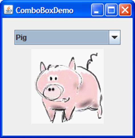 combobox in swing how to use combo boxes the java tutorials gt creating a