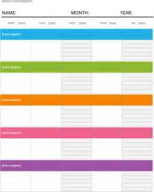 weekly homework template free weekly assignment calendar template for dotx pdf
