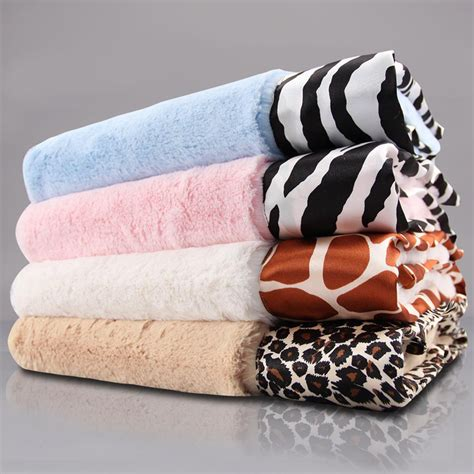 Zebra Print Baby Blankets by Luxe Baby Blanket With Animal Print Satin Trim