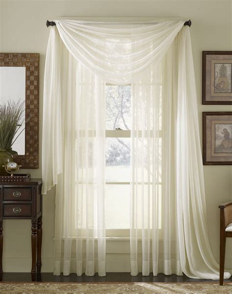 Window Sheer Curtains Platinum Voile Flowing Sheer Scarf Curtainworks