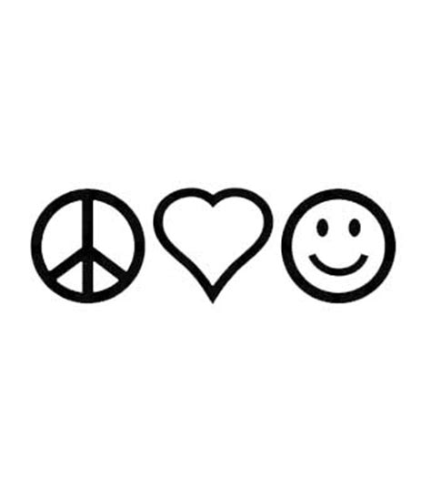 peace love and happiness tattoo designs peace happiness sign decal shop sunset designs