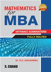 Competitive Exams For Mba by Mathematics For Mba Entrance Exams By R S Aggarwal