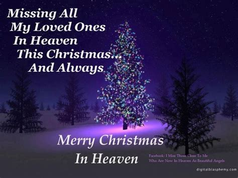 merry christmas quotes loved ones heaven