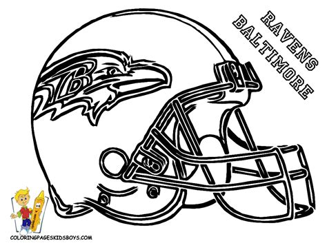Ravens Helmet Coloring Page What Time Is It Ravens Coloring Pages