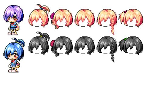 maplestory hair gallery maplestory mixed hair inserthenamehere by akuachan on