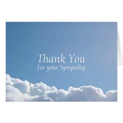 peaceful sky 2 sympathy thank you note card zazzle