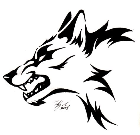 snarling wolf by captainmorwen on deviantart