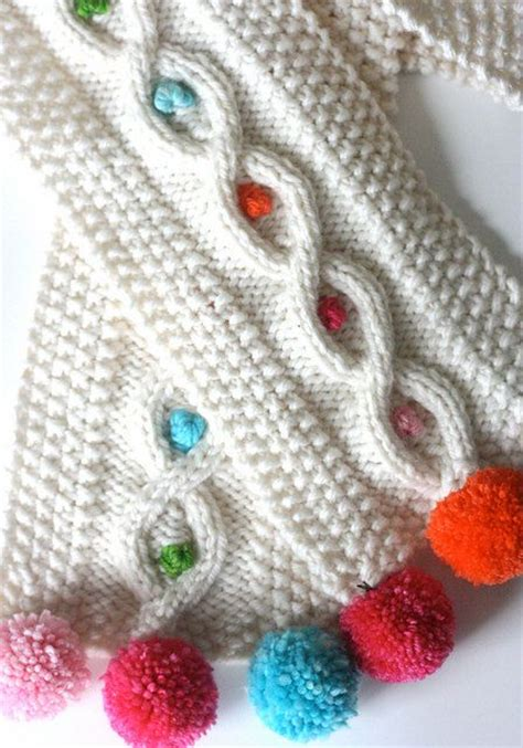 pom pom yarn knitting patterns pom pom cable scarf knitting pattern 4 00 via etsy