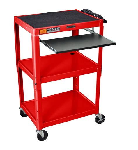 Projector Cart Laptop Workstation Standing Stand Up Laptop Desk Cart