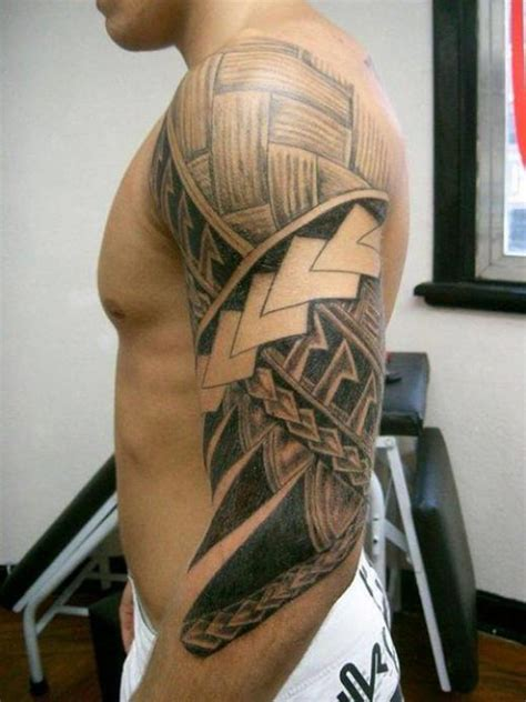tribal arm tattoos meanings design maori