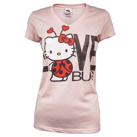 hello kitty t shirt mighty fine ladies hello kitty love bug t shirt pink