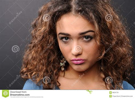 curly hair model beautiful model with curly hair royalty free stock photos
