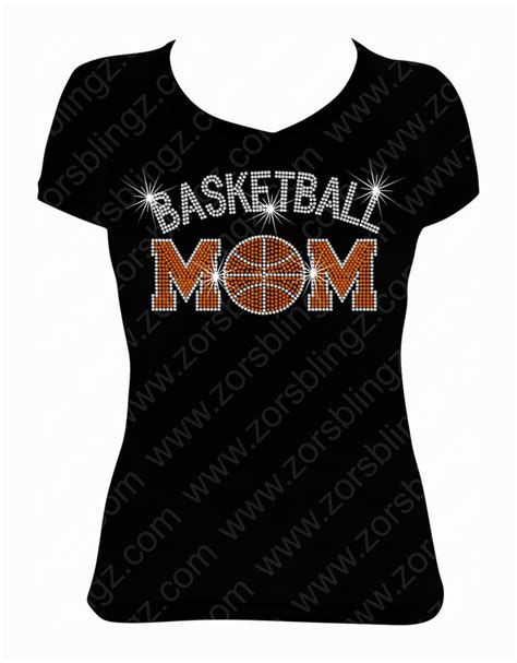 design a shirt with bling basketball mom arched rhinestone t shirt design zor s