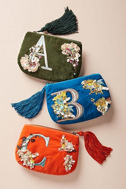 perfect gift idea anthropologie flowering monogram pouch