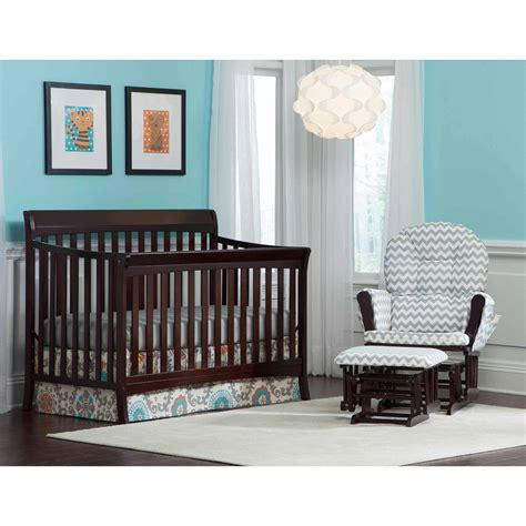 Stock Craft Crib by Storkcraft Hillcrest Fixed Side Convertible Crib Gray