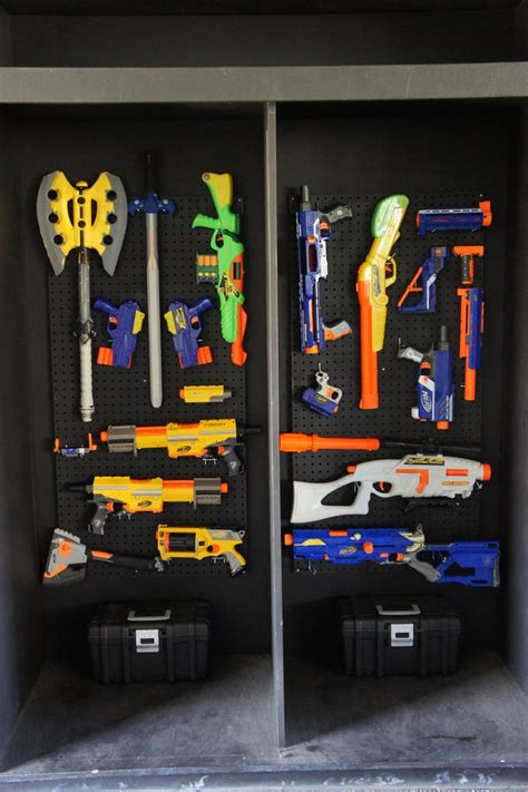 Nerf Gun Rack For Sale by Nerf Arsenal Setup We Just Created From Peg Boards Every Sunday Is A Nerf At Crossover