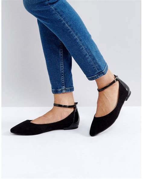 N Co Flat Shoes lyst faith ally flat shoes in black