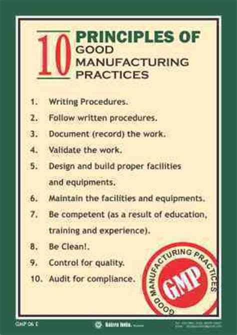 good manufacturing practices (gmp) posters, nirapad
