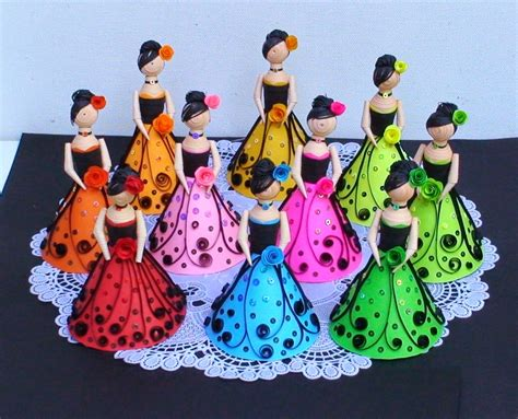 How To Make A 3d Paper Doll - wonderful 3d paper quilling dolls craft ideas