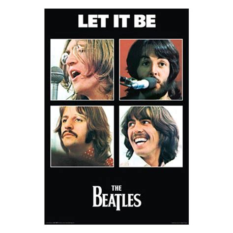 the beatles let it be wall poster