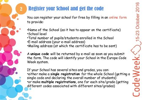 coding week codeweek4all challenge guidelines for schools