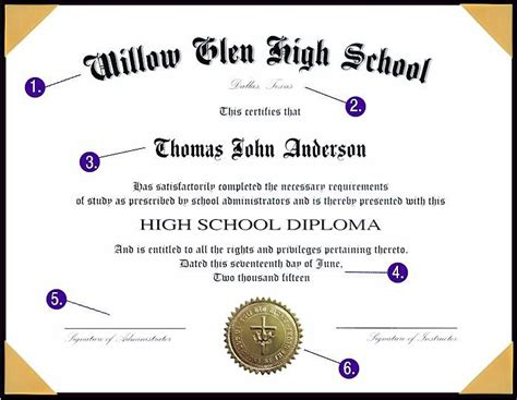 high school diploma template with seal anuvrat info