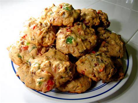 fruit cake cookie recipe bourbon fruitcake cookies butter beans cornbread