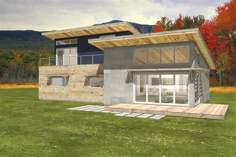 Small Energy Efficient House Plans by Contemporary Shed Roof Cabin Plans Shed Roof Cabin Plans