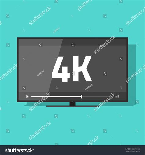 Tv Videotech flat screen tv 4k ultra hd stock vector 563753932