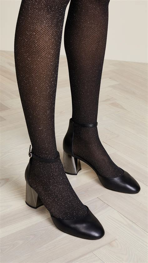 Wolford Net Tights lyst wolford metallic net tights in black