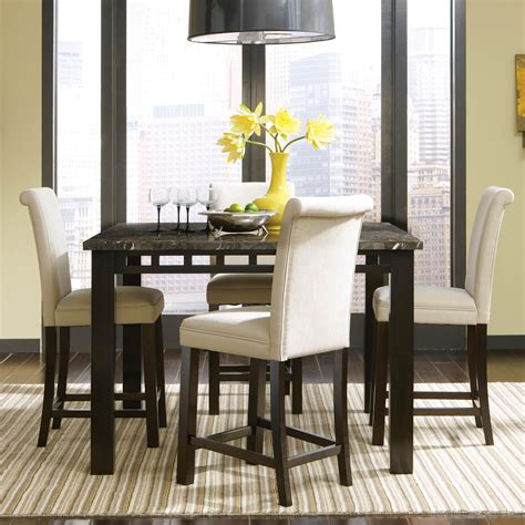 triangle dining room table createfullcircle com dining room with black counter height table and chairs