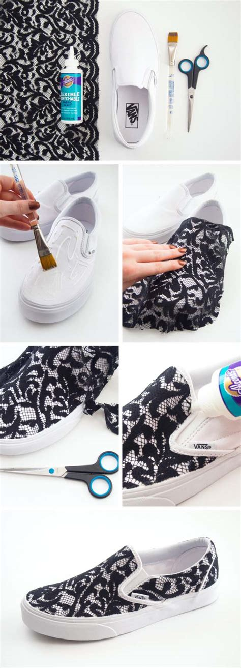 diy lace shoes cool diy fashion ideas diy projects for
