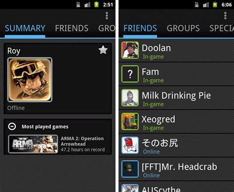 steam for android steam app for android the whole steam community at