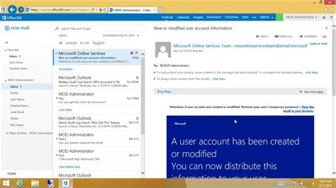 Office 365 Outlook Login Problem Managing Exchange Using Microsoft Console