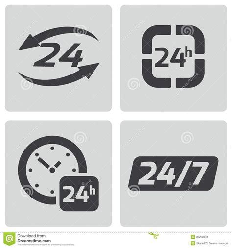 m a 24 hour 1472938534 preto do vetor 24 horas de 237 cones ajustados de stock 38220841