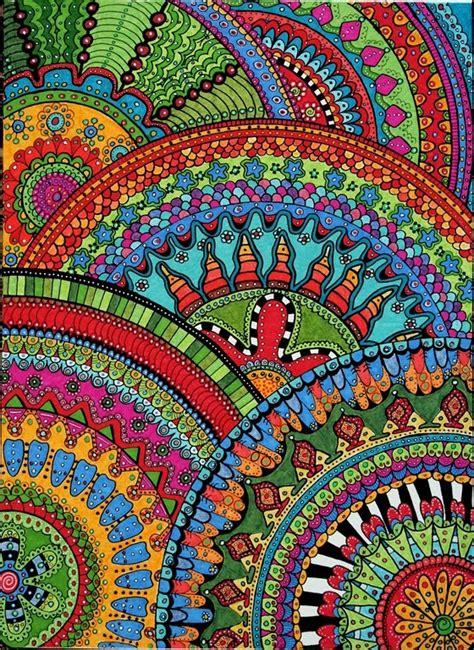 zentangle pattern colour full color love zentangle zendalas circle halves