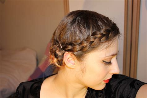 braid styles for thin hair easy braided updo for short fine hair youtube