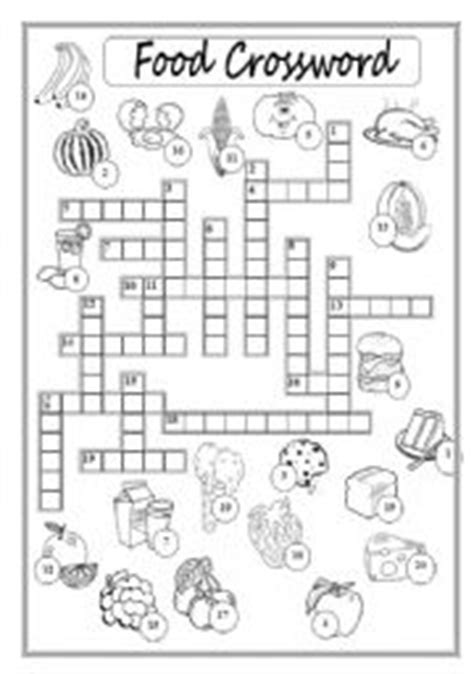 easy crossword puzzles about food 13 best images of food crossword puzzle worksheet